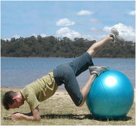 Ball Exercise Two Core Stability Spinal